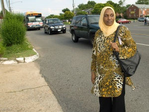 Heba of Sudanese origin along Route 7 in northern Virginia