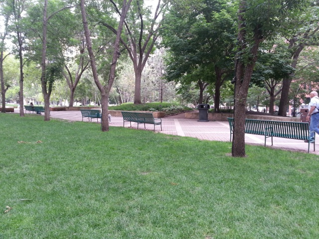 restful seating in Mears Park