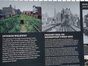 Signage about the development of the High Line