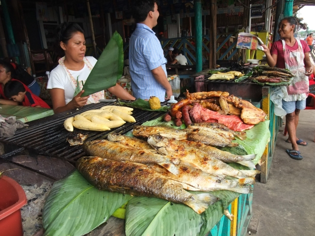 Grilled river fish, a delicious lunch option