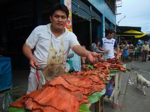 Market vendor in Belén
