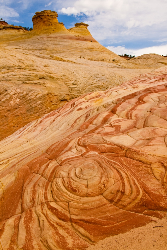 ROCK SWIRL IN ZEBRA CANYON, UTAH