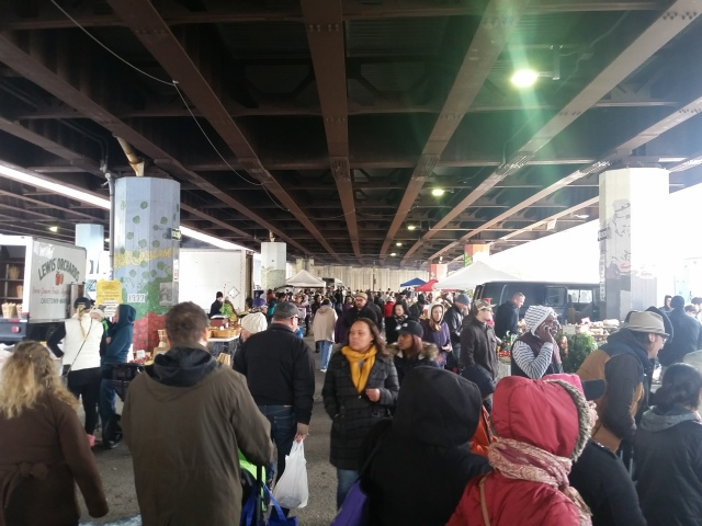 The market scene under the highway
