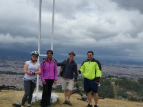 a warm encounter with local sports afficionados who showed us Cuenca's best panoramic view