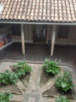 One of three interior courtyards in the Casa de Palomas, now a government office